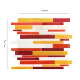Mosaico rojo del vidrio manchado de Backsplash del color de la mezcla de los materiales de construcción