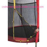 8FTの安全策が付いている赤い跳ね上がりのジャンプのトランポリン、熱いトランポリン