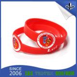 Wristband di gomma del silicone della fascia del braccialetto di modo con il disegno di Debossed