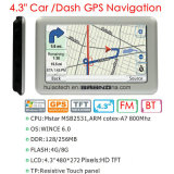 Navegador novo de Pnd Portablet GPS da navegação da carcaça 4.3inch GPS do metal com córtice A7 do braço, Wince 6.0; 2016 câmera interna da velocidade do mapa do GPS, câmera traseira do estacionamento