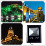 30W LEDの屋外の庭公園の照明フラッドライトの(>90lm/w、3000-6500k/RGB薄い色)