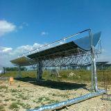 太陽熱プラントに使用するソーラーコレクタの受信機の管