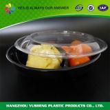 3-compartiment de Beschikbare Plastic Container van het Voedsel met Duidelijk Deksel