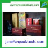 OEM het Verpakkende Vakje van de Fles van de Wijn van het Vakje van de Gift van het Document