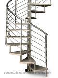 Escaleras galvanizadas al aire libre de la escalera espiral