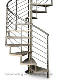 Escadaria espiral ao ar livre escadas galvanizadas