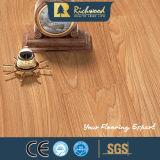 revestimento de madeira estratificado de madeira gravado E0 do parquet do bordo da hicória de 12.3mm