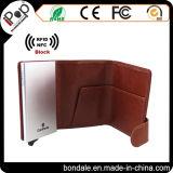Material de aluminio y plástico y carpeta de la tarjeta de crédito del sostenedor de la tarjeta de visita del uso