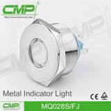 luz de indicador redonda lisa do terminal do fio de 28mm