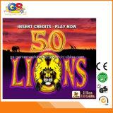 Cinque draghi cinquanta giochi delle slot machine dell'aristocratico dei leoni da vendere