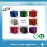 Esferas magnéticas com cores diferentes