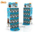 Papierpappausstellungsstand-Knall-Bildschirmanzeige-Zahnstange für Einzelverkauf
