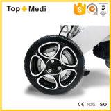 Sillón de ruedas transportable ligero plegable de aluminio de la energía eléctrica de Topmedi del surtidor de China