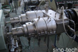 Flexibler doppelter Kammer-Plastik-Belüftung-elektrische Rohr-Rohr-Strangpresßling-Zeile