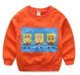 Дети одевают фуфайки 100% мальчиков малышей хлопка напечатанные шаржем