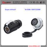 9 разъем сигнала кабеля Pin водоустойчивый IP67