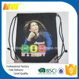 Черный мешок Backpack Drawstring футбола холстины