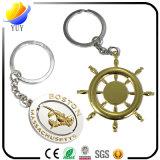 Catena chiave del metallo di figure di fascini con la catena chiave in lega di zinco del metallo di nichelatura di effetto 3D