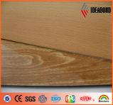 Matière composite en aluminium de texture en bois neuve de modèle d'Ideabond (AE-304)
