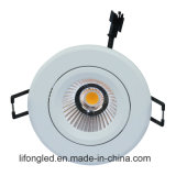 MAZORCA ajustable LED Downlight de la inclinación del proyector 9W con 75m m cortados