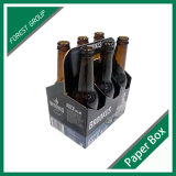 Boîte faite sur commande à vin de carton de bouteille de l'impression 6 pour la bouteille 375ml empaquetant en gros