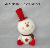 Decoração do Natal, baby-sitter do duende do boneco de neve de Santa com pés 3asst da tira