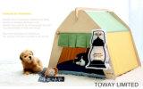 Casa forte do animal de estimação da lona do projeto das barracas do cão da madeira de pinho