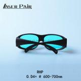 Verres de sûreté de protection d'oeil de lunettes de sûreté de protection d'oeil en verre de laser d'homologation de la CE Rhp O.D4+@600-700nm pour les lasers rouges, laser à rubis