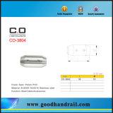 Accessoires en acier de câble de support de barre de pêche à la traîne d'acier inoxydable