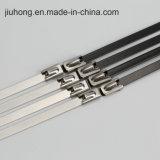 Schwarzer Edelstahl-selbstsichernde Kabelbinder