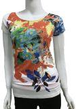 De basis T-shirt van de Stijl voor Vrouwen met Lichte RubberAf:drukken