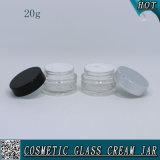 kosmetisches transparentes Glasglas 20ml für Gesichts-Sahne