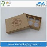 Fruit blanc fait sur commande de boîte à ananas de carton empaquetant avec le guichet en plastique