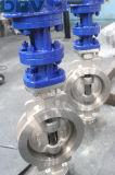 Клапан-бабочка металла вафли шестерни глиста CF8