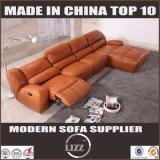 Muebles caseros L moderno sofá del Recliner del cuero de la dimensión de una variable
