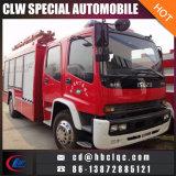 L'incendie de véhicule de lutte contre l'incendie des ventes 8m3 Isuzu d'usine s'éteignent le camion