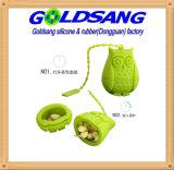 녹색 올빼미 모양 실리콘 착색공