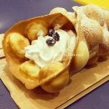 ステンレス鋼のおいしい食糧を持つ贅沢な卵のワッフルのパン屋