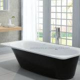 Bañera exterior interior y negra del blanco simple (PB1025N)
