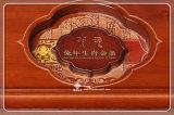 La colección y la visualización del oro y de la caja de embalaje de la moneda de plata