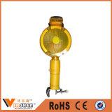 Indicatore luminoso d'avvertimento infiammante LED del Ce di traffico solare luminoso eccellente del chiarore di colore giallo