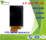 """4.0 """" étalage de TFT LCD de 272*480 MCU 8bit, IC : Ili9488, FPC 30pin pour la position, sonnette, médicale, véhicules"""