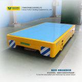 El carro plano motorizado para que la bahía ladre muere el carro del transporte en suelo del cemento