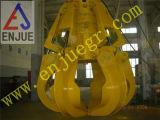 Cubeta hidráulica da garra da casca alaranjada do motor para a sucata de aço da rocha na embarcação