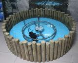 Fontaine d'eau décorative de petit jardin ou de jardin d'intérieur de maison avec la lumière colorée de DEL