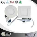 Luz redonda do diodo emissor de luz do painel do quadrado 80lm/W da fábrica 18W 8inch do ISO
