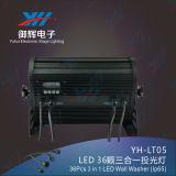 IP65 LED Garten-Licht 36*3W imprägniern DMX im Freien an der Wand befestigtes LED Licht 3 in 1 Wand-Unterlegscheibe-Licht RGB-LED