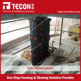 Coffrage en plastique de fléau rond de Tecon pour le béton
