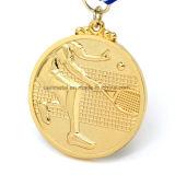 Médaille blanc en alliage de zinc personnalisée du sport 3D avec la tête