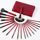 естественный комплект щетки состава косметик волос 21PCS с красным мешком